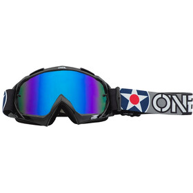 O'Neal B-10 Lunettes de protection, warhawk black/gray-radium blue